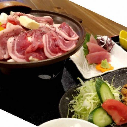 奄美大島料理かめの天然いのしし御膳